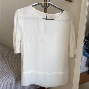 H&M Viscose 100% silky textured white blouse